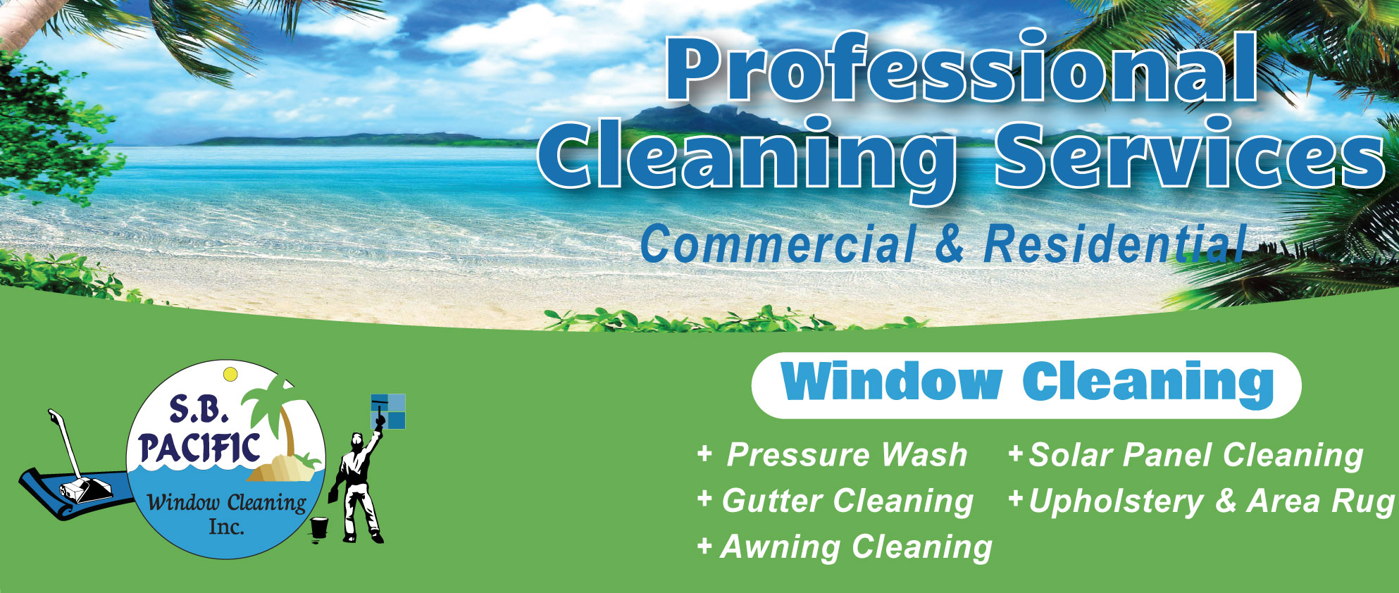 Sb pacific carpet window cleaning for Window washing